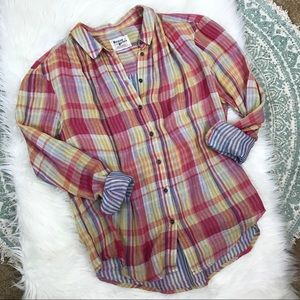 Anthropologie Holding Horses plaid button down 8